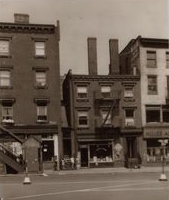 The Kangs' neighborhood:--East 10th St. and 3rd Avenue--around 1942, a decade after they lived there.