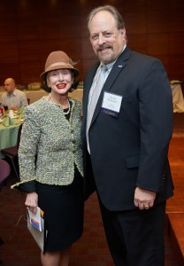 Mrs. Phyllis Kossoff with President Mitchel Wallerstein. Photos by Jerry Speier