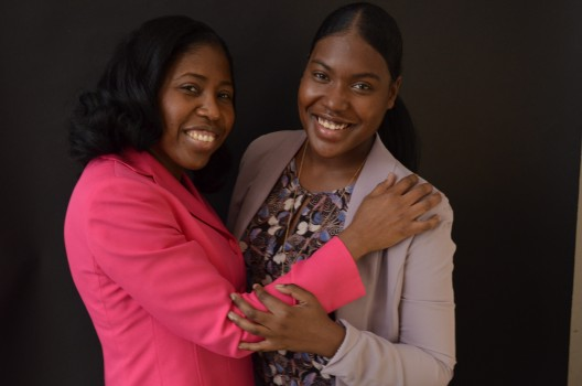 Unique Mother-Daughter Student Duo