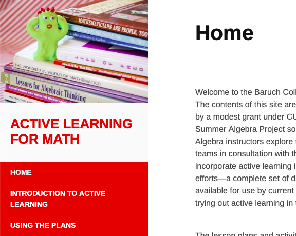 Active Learning for Math