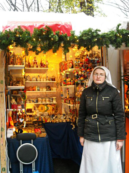 Sister Irina will be running the booth through Dec. 24th. All purchases directly support the convent and its help centers in Belarus.