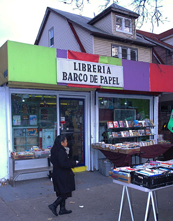 Barco de Papel, in Jackson Heights, Queens, specializes in children's books.