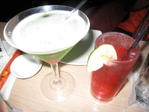 Innovative cocktails abound on Thanksgiving Eve; these were served up at the Flo Cafe in Astoria, Queens.