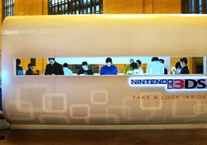 Nintendo has set up booths in Grand Central Terminal and around the country to promote its new 3DS handheld system.