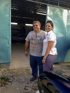 Julio Alvarez and Nidialys Acosta Cabrera have expanded their company, NostalgiCar, which operates a vintage car service and refurbishes vintage autos. Cabrera, trained as a chemist, was a government purchasing agent, developing many useful contacts for their business.