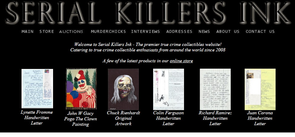 Paintings by and letters from convicted killers are part of the inventory for sale at Serial Killers Ink.