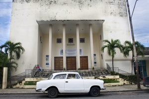 The Centre Hebreo Sefardi de Cuba, in the Vedado neighborhood of Havana. (Photo by Jessica Nieberg)