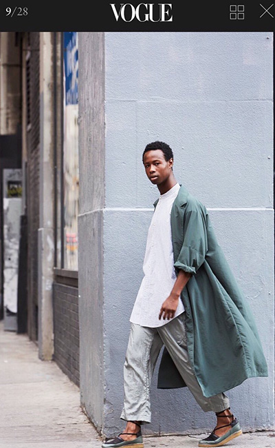 Model Jeru Antoine says his Caribbean community has had difficulty accepting his bisexuality. (Photo courtesy of Rachel Comey)