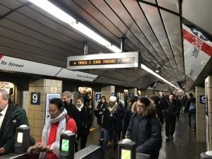 Passengers exiting the 9th Street station in Greenwich Village on the PATH train from New Jersey. Local systems like PATH had improved regulations and medical checks for sleep apnea, while federal regulation has not changed in years.