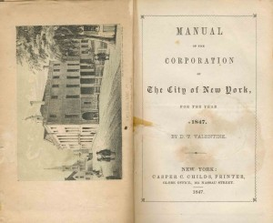 Manual of the Corporation of the City of New York, 1847