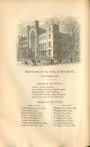 University of the City of New York, 1868