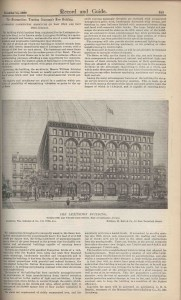 The Lexington Building,  Record and Guide 1895