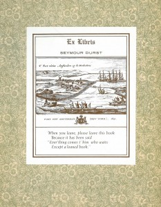 DURST Collection bookplate