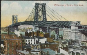 Williamsburg Bridge Postcard, 1915. MCNY Digital Collections: http://collections.mcny.org/Collection/Williamsburg Bridge, New York.-2F3HRGMENUXC.html