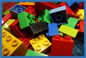 mess of legos all mixed up
