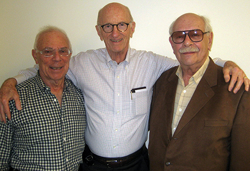 From left to right: Paul Koren, Dick Merians, and Norman Brust