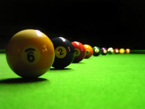 Pool is another one of my hobbies. i gather around with my friends every weekend to play pool. fun and strategic game.