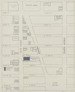 Image shows map of plots of land for sale.