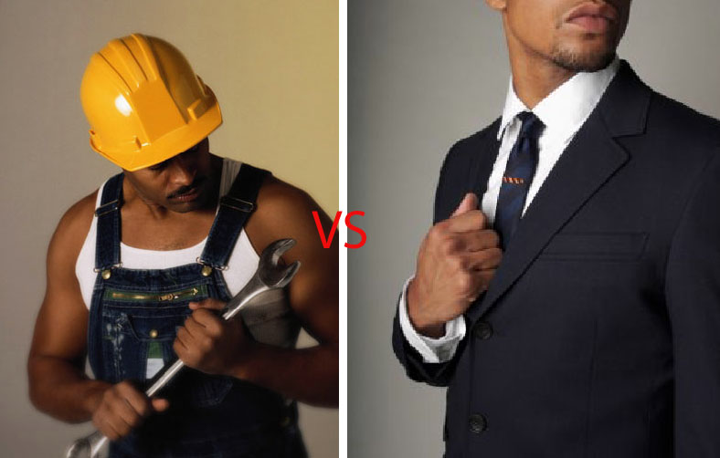 blue collar labor vs white collar labor essay