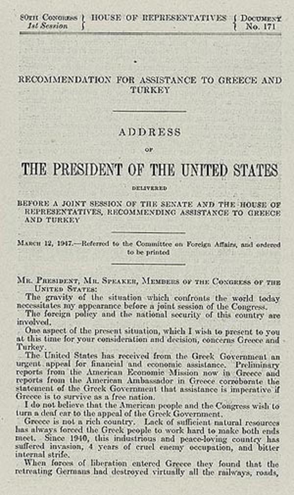 The Truman Doctrine � Modern American History