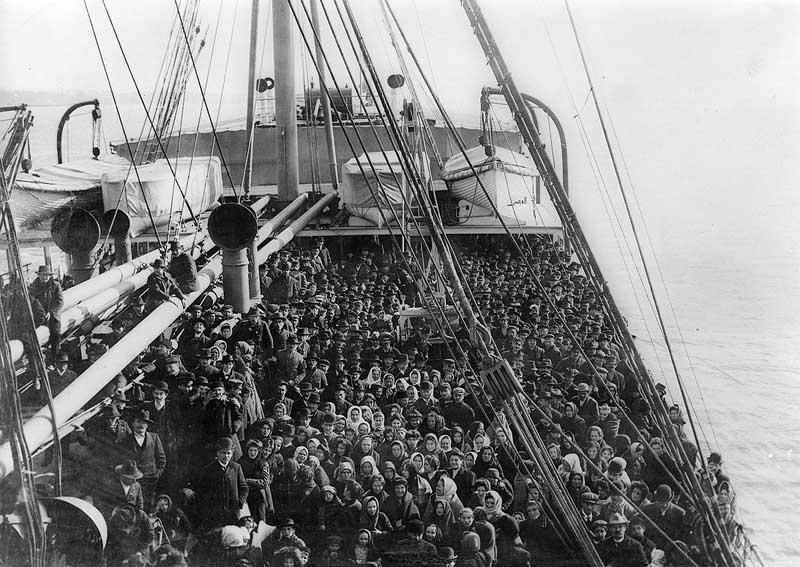 Crowded ship