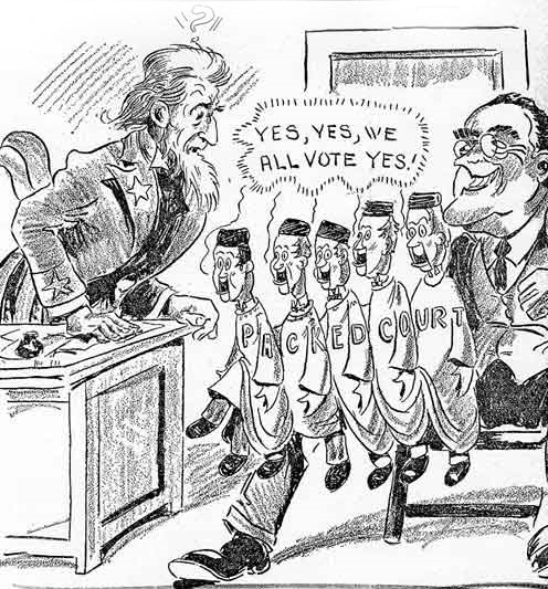 Fdr Political Cartoon Court Packing