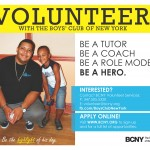 Volunteers needed for Boys' Club of New York (BCNY)