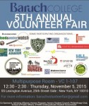 Baruch College 5th Annual Volunteer Fair Flyer
