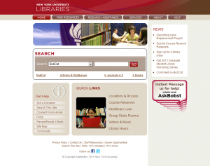 NYU Website Homepage