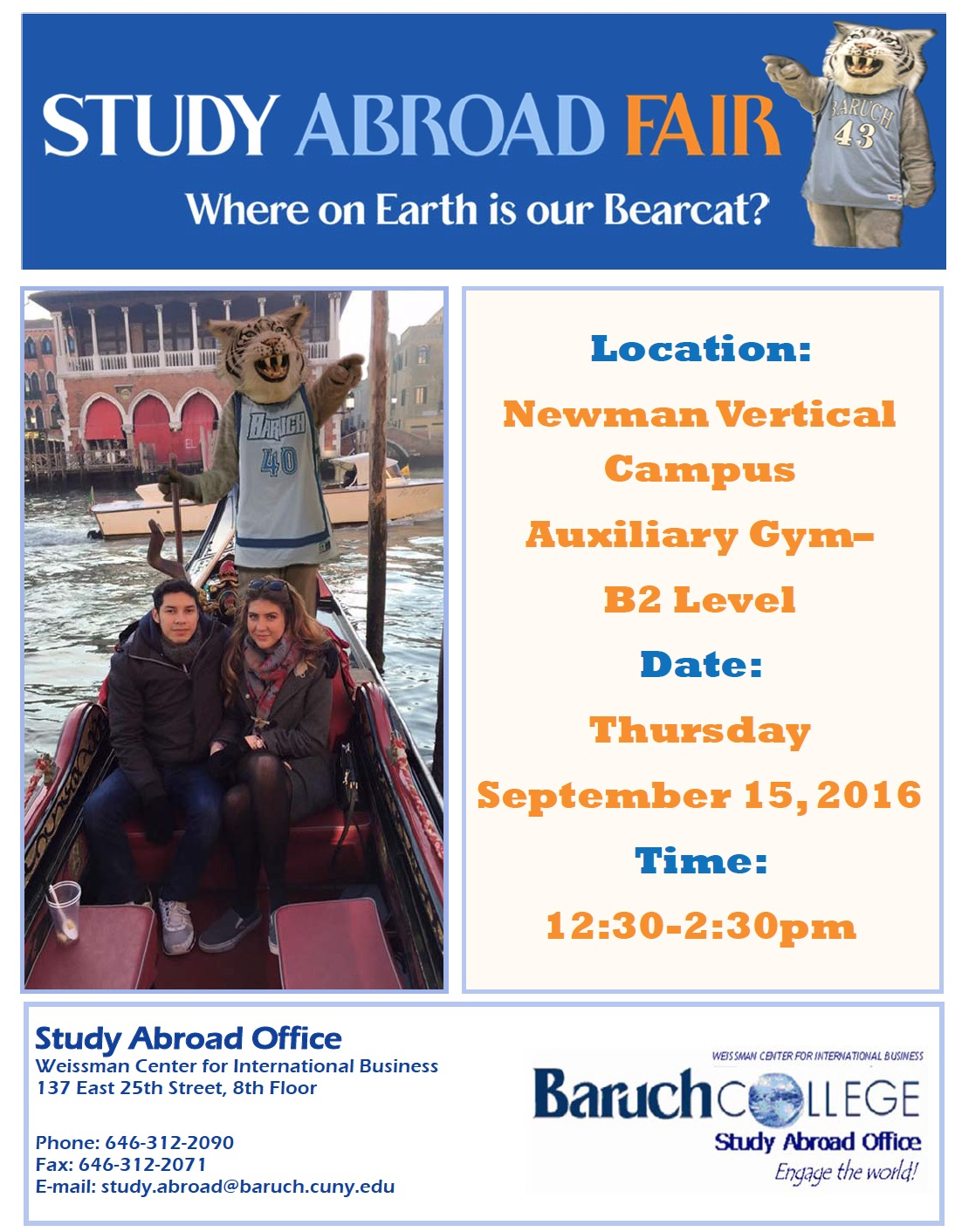 Spring Semester Study Abroad Fair - City University of New ...