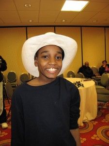 James sporting a cowboy hat at Dallas, TX for Grades Nationals (Photo by Elizabeth Vicary)