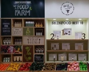 Skin Food - Makeup counter or farmer's market? Photo Credit: Liz Kim