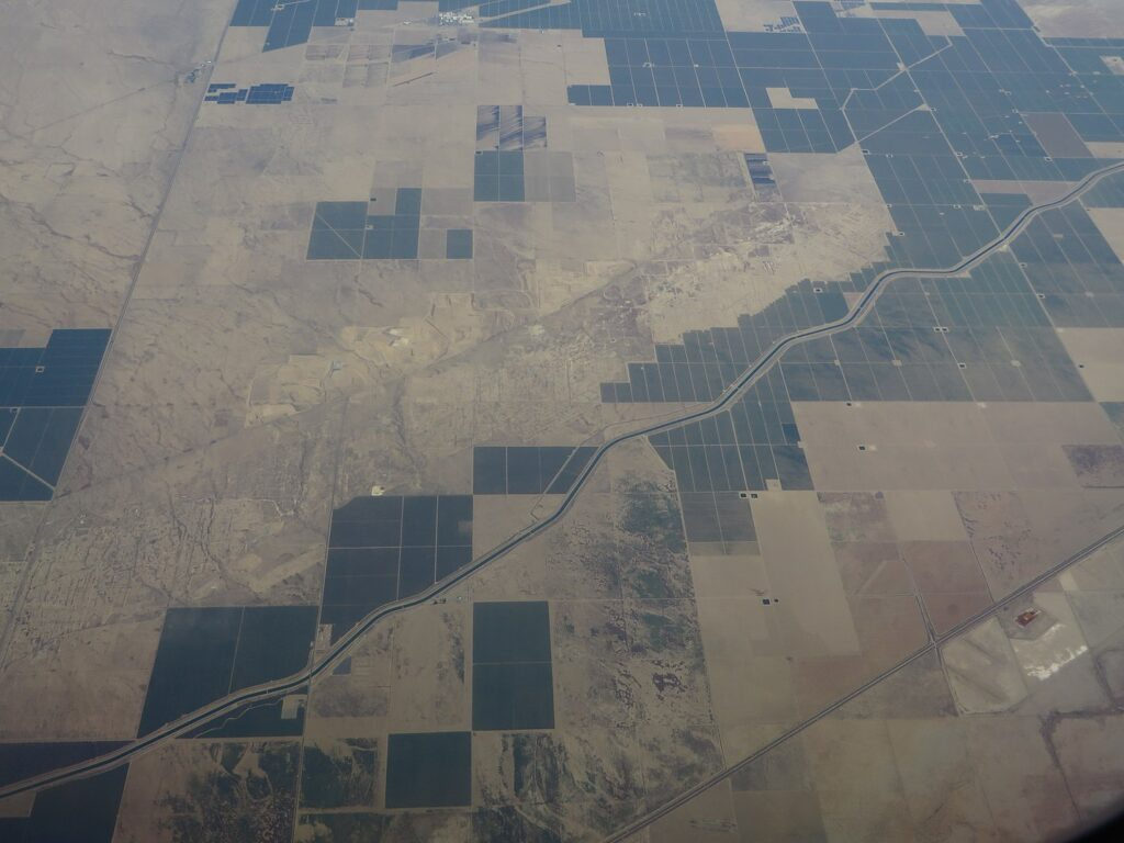 Image of landscape from a plane.
