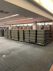 Library Books Packed for Storage