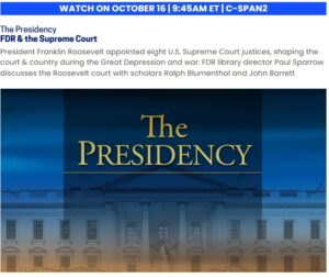 CSPAN info page for FDR & the Supreme Court