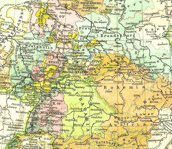 Nationalism Smetana And Dvorak MSC Baruch College - Germany map in 1850