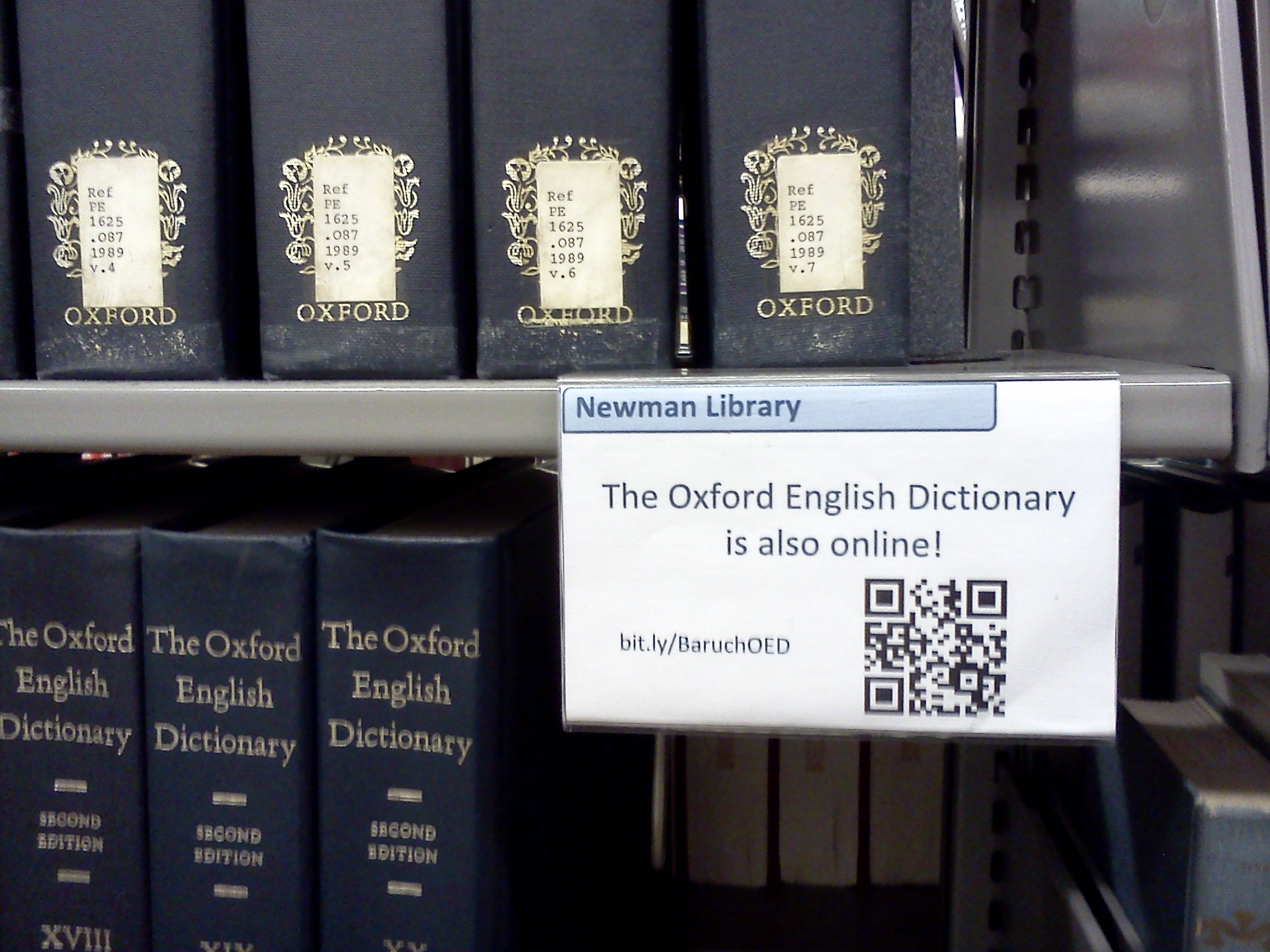 Oxford English Dictionary – Reference at Newman Library