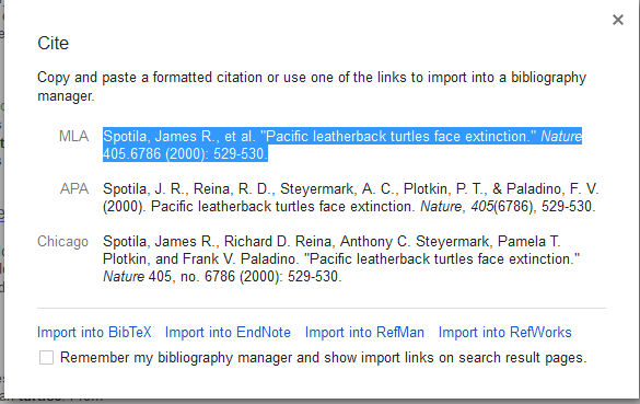 Format Citations from Google Scholar Search Results Reference at ...