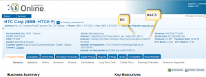Mergent Online--SIC and NAICS