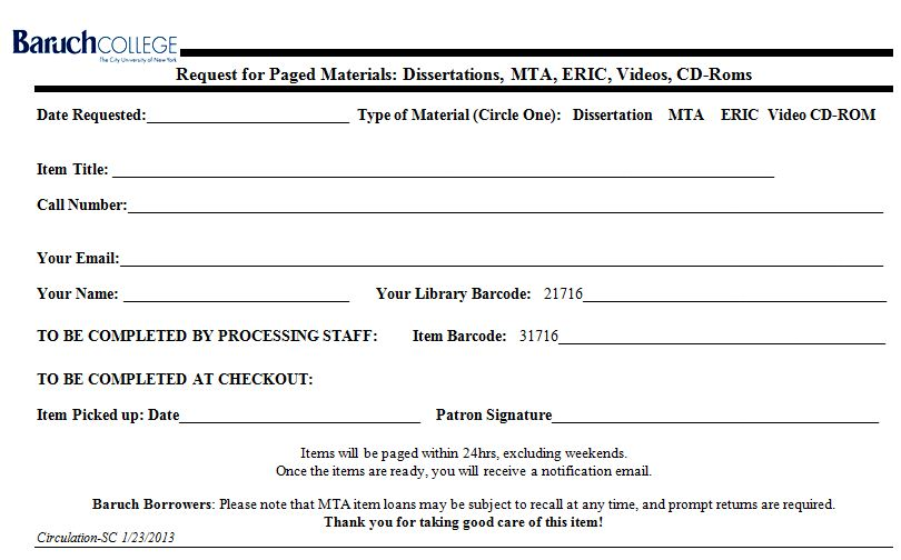 MTA Collection Reference at Newman Library