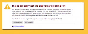 Factiva--browser warning message in Chrome