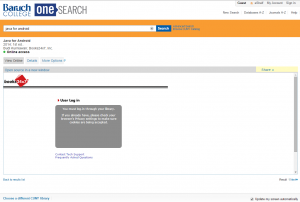 OneSearch--Books24x7 error page