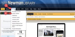 Library catalog--shortcut to catalog interface