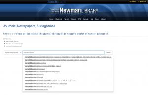Auto-suggest in e-journal portal