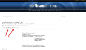 Search results page with peer-review and open access limiters