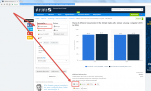 Location of download graphic buttons in Statista