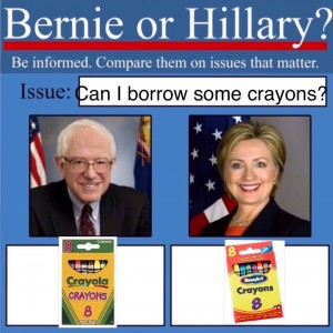 crayonsother 300x300 this is a thing bernie or hillary the meme pop culture carousel