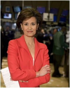 Susie Gharib at the New York Stock Exchange.