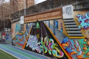 Graffiti Hall of Fame, 106th and Park in Spanish Harlem.