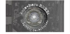 promotion for kate-hers RHEE Inventing Genealogies online exhibition at New Media Artspace
